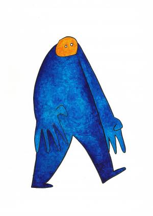 Bonhomme bleu