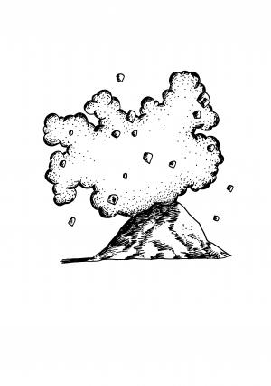 Volcan de taille raisonnable