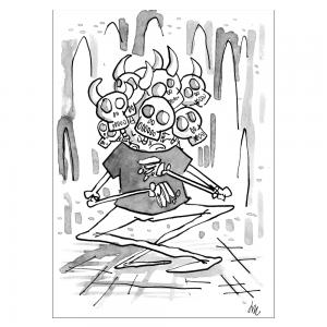 Squelette à 8 têtes