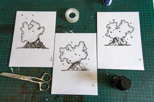Trio de volcans (format A5)